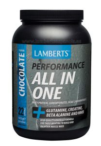 ALL IN ONE: Proteins and carbohidrates chocolate flavour Lamberts