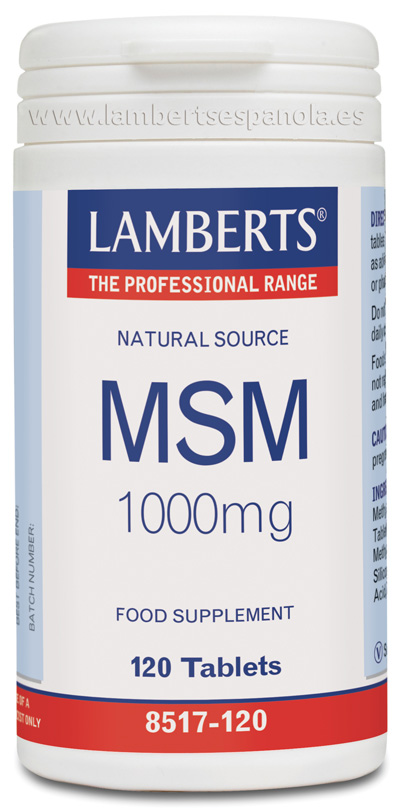MSM 1000 mg de Fuente Natural Lamberts
