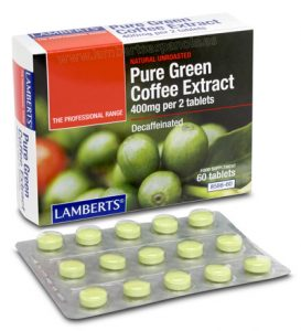 Pure Green Coffee. Decaffeinated extract. Lamberts