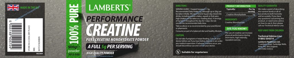 Creatine powder properties