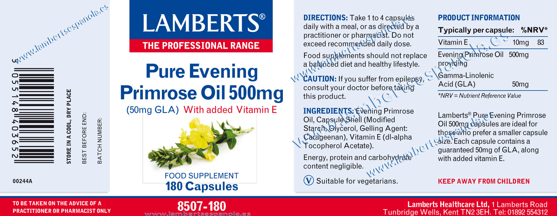 Pure evening primrose oil properties