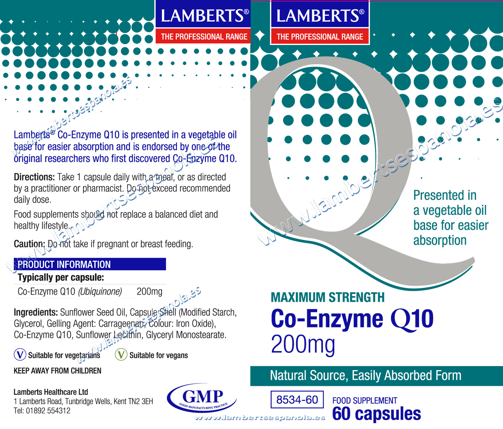 Co-Enzima Q 10 200 mg properties