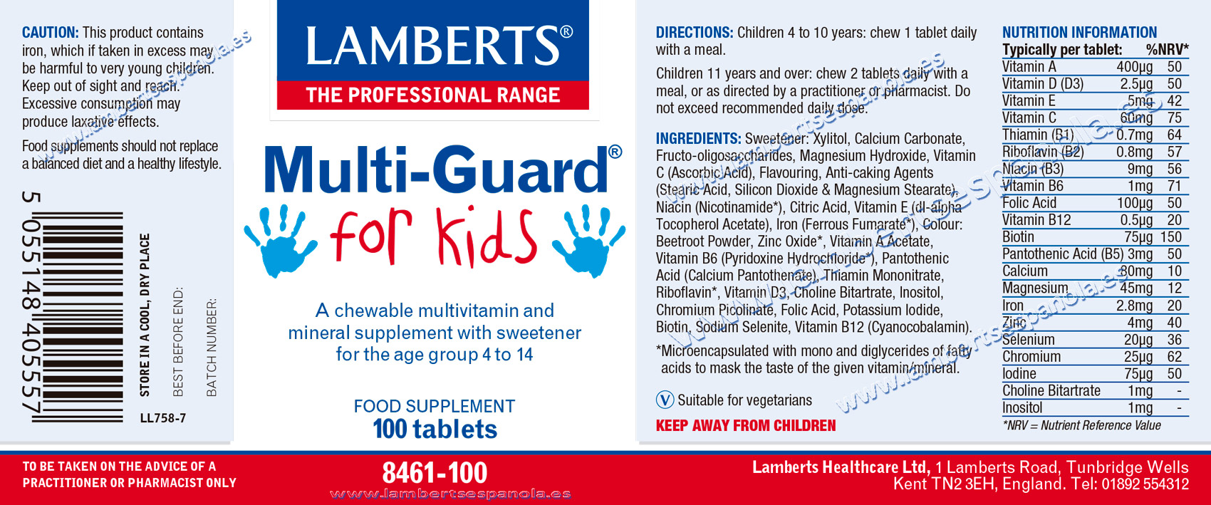 MultiGuard for kids properties