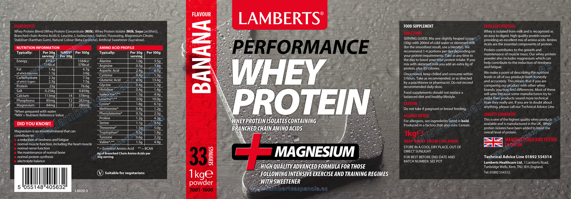 Whey Protein banana flavour proerties