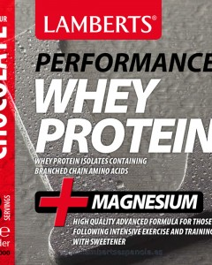 Lamberts Whey Protein chocolate Flavour- Product Label