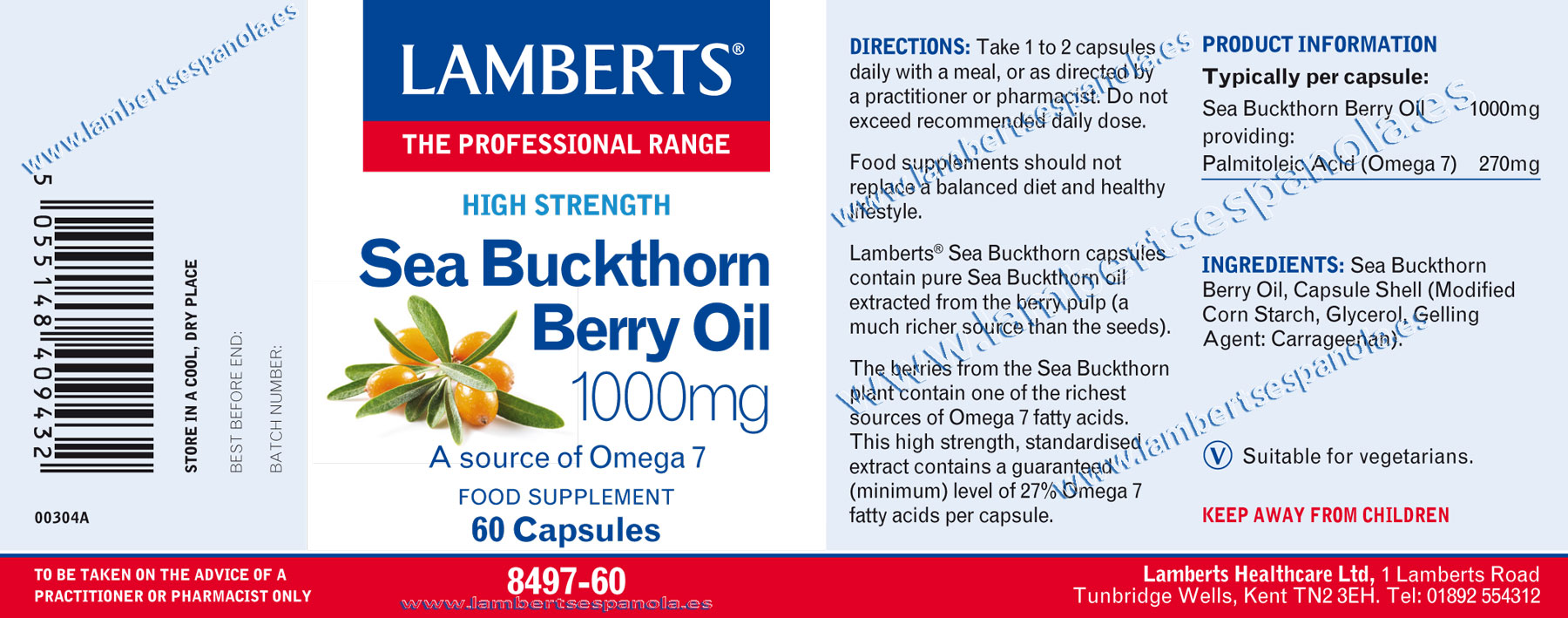 Sea Buckthorn Berry Oil properties
