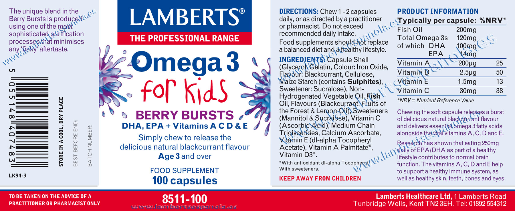 Omega 3 for kids properties