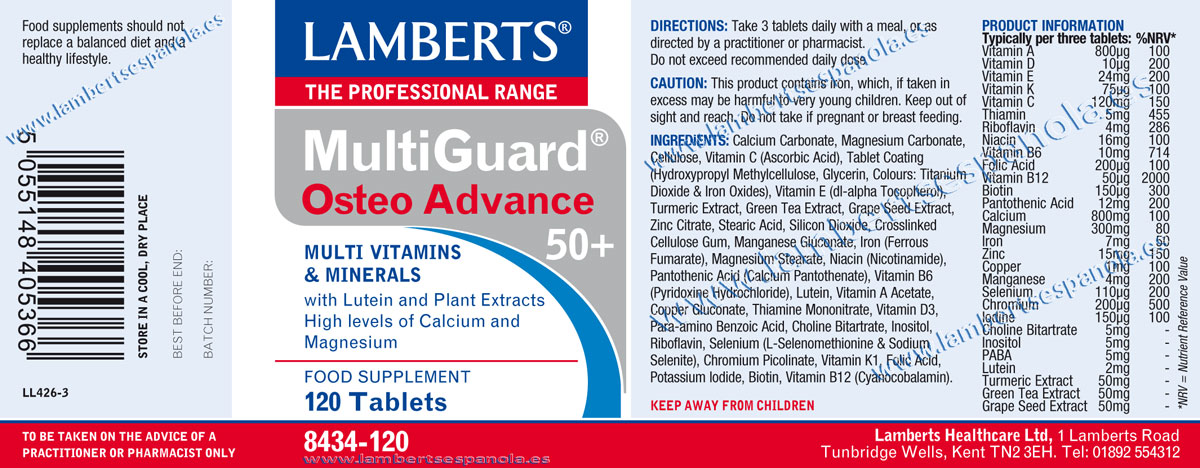 Multiguard Osteo advance properties. Lamberts