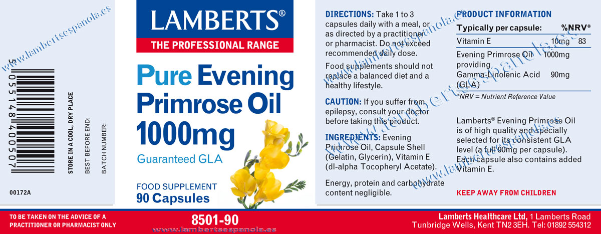 Evening prmrose oil properties
