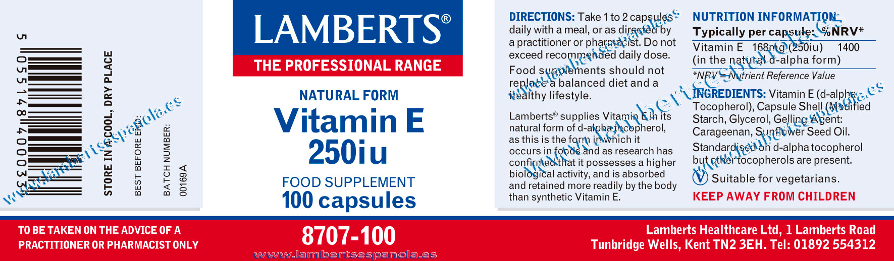Vitamin E 250 ui properties