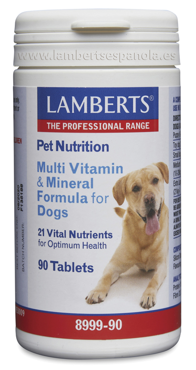 Pet nutrition: Complete vitamins and minerals for dogs Lamberts