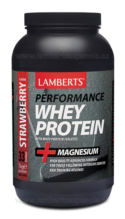 Whey Protein strawberry flavour Lamberts