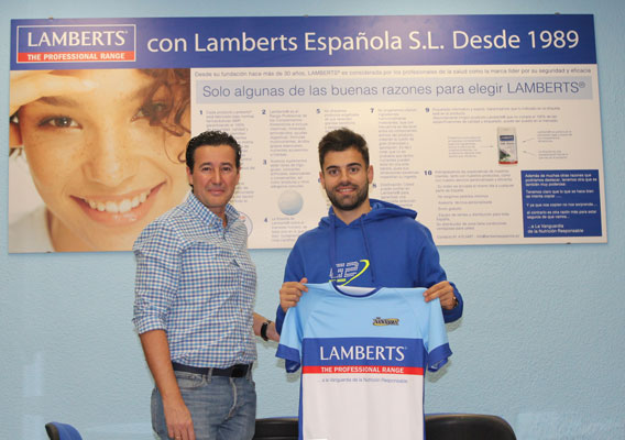 Contract signed Sponsorship of Spanish Lamberts to Adrián Garcia Valverde