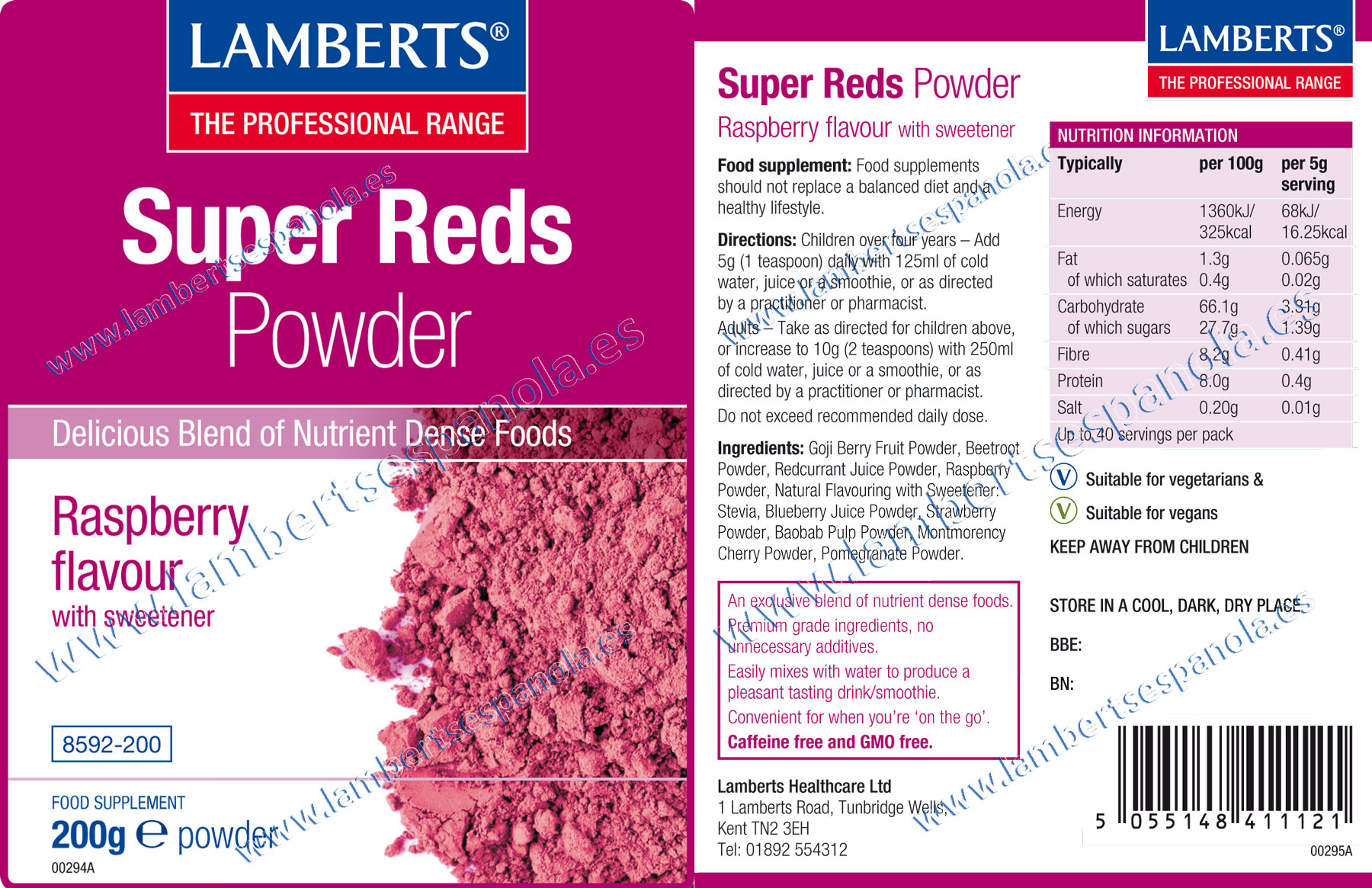 Super Reds properties