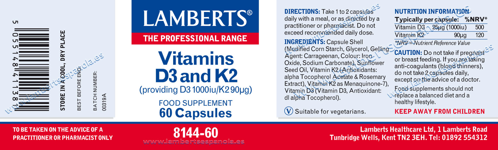 Vitamins D3+ K2 properties