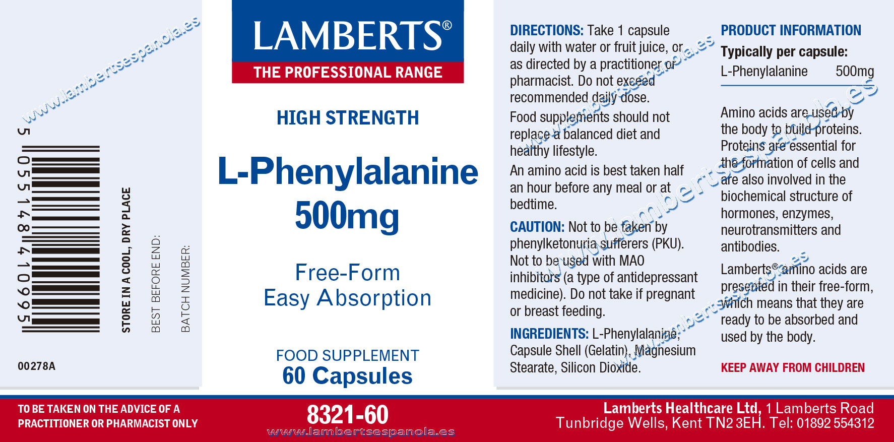 Phenylalanine 500 mg properties