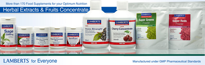 Lamberts Herbal Extracts, Fruit Concentrates and Superfoods
