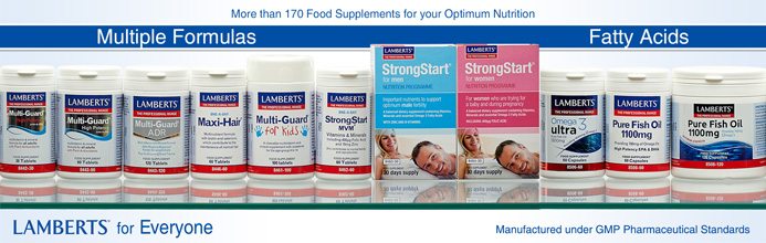 Lamberts Multiple formulas and Fatty Acids supplements