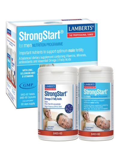 StrongStart for men for fertility. Lamberts
