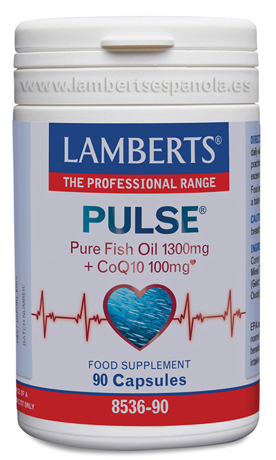 Lamberts Pulse Pure Fish oil 1300mg + CoQ10 100mg
