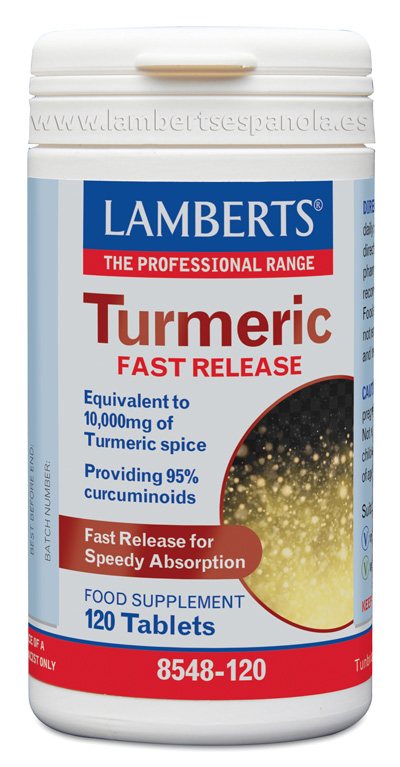 Turmeric fast release by Lamberts. 120 tabs