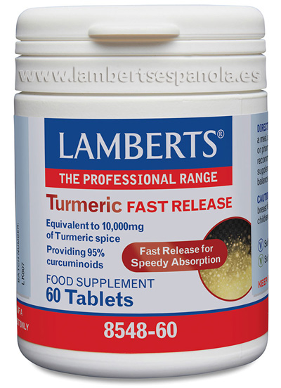Turmeric fast release by Lamberts. 60 tbs